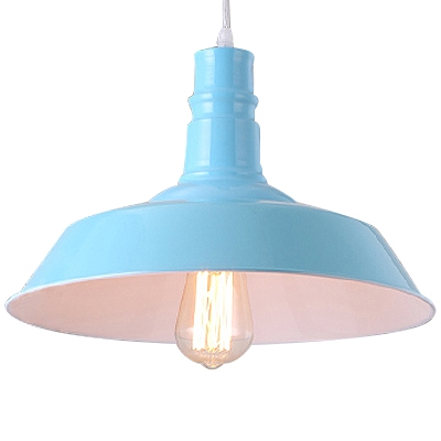 Fashion style blue pendant lights industrial lighting barn style ocean blue 1 light led pendant light aloadofball Choice Image
