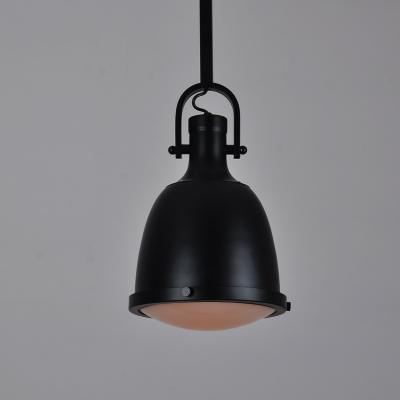 Black Finished Indoor Hanging Pendant with Bell Shade