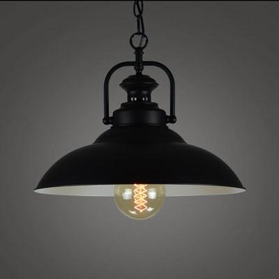 13'' W Industrial Style 1-Lt Pendant Light in Black Finish