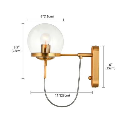 antique brass lighting brushed brass wall retro antique brass 1light wall sconce in globe shade decorative light for hallway