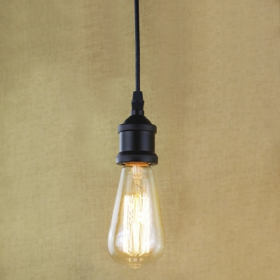 best sneakers b60f0 801d0 Single Bulb Style Black Finished Hanging Light