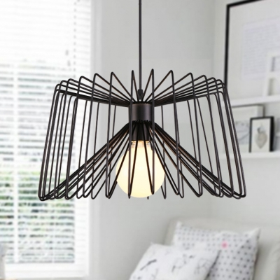 Slatted Style Vintage Indoor One Light Pendant Light