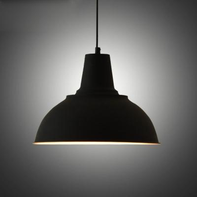 Vintage Style Dome Shape Black Finished Indoor Hanging Light
