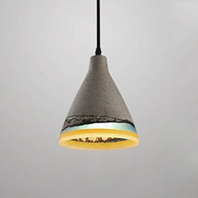 Cement Style Cone Shape Colorful Resin Indoor Pendant Light