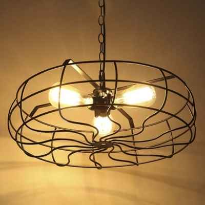 Industrial Chandelier Ceiling Fan Light Kits with 18\
