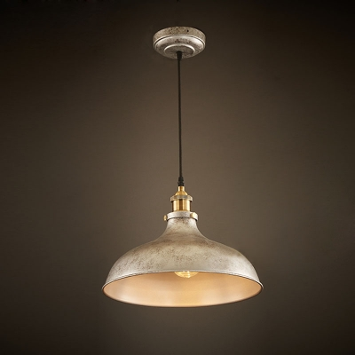Chic And Lovely Beige Metal Shade Foyer Pendant In 14 Inches