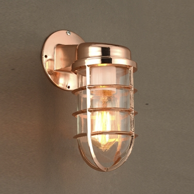 Classic industrial metal frame indoor and outdoor wall sconces in classic industrial metal frame indoor and outdoor wall sconces in copper mozeypictures