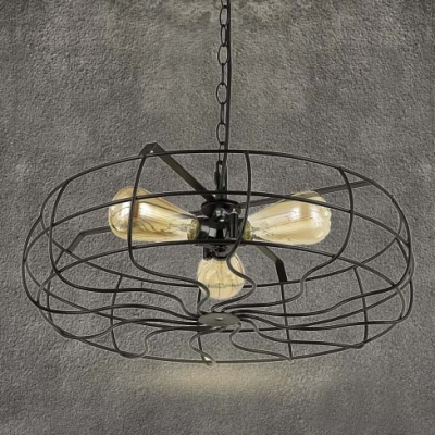 Industrial Chandelier Ceiling Fan Light Kits with 18