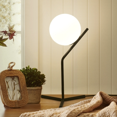 Concise Style 10''W 21''H Single Light Globe Shade Table Light