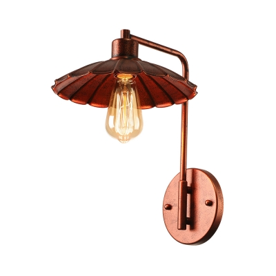 Industrial Restoration Style Rust Metal Wall Sconces