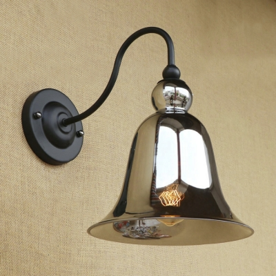 Industrial Rustic 8.27 Inches Glass Shade Metal Hallway Wall Sconce