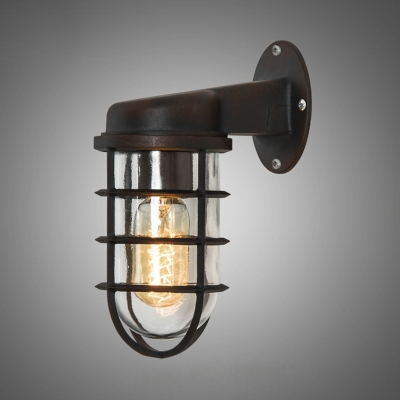industrial style outdoor lighting. Rustic One Light Metal Hallway Sconce Antique Bronze 3.74 Industrial Style Outdoor Lighting R