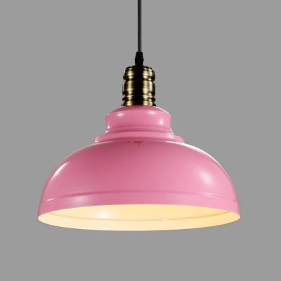Romantic Pink Shade Industrial Minimalistic Pendant Light