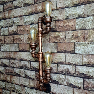 Practical Hallway Lighting Industrial Metal Pipe Single Light Wall Sconce