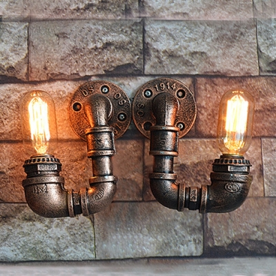 Industrial Antique Bronze Light Wall Sconce Rustic Hallway Lighting