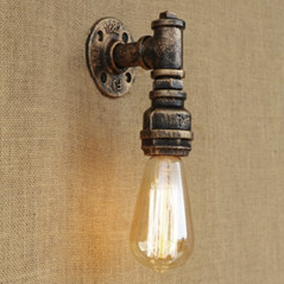 Minimalism Pipe Design Classic One Light Bronze Iron Indoor Wall ...