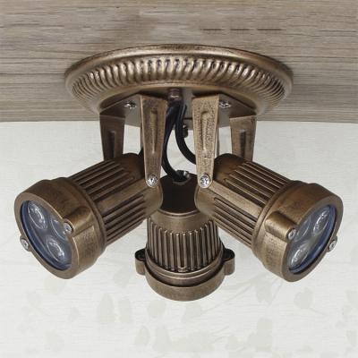 Baycheer / Vintage Style 3 Light Semi Flush Ceiling Fixture in Bronze Finish