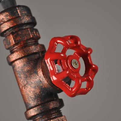 Rust Industrial Vintage Minimalist Bare Bulb Style Pendant