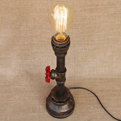 Metal Pipe Style Single Light Table Lamp 13.78