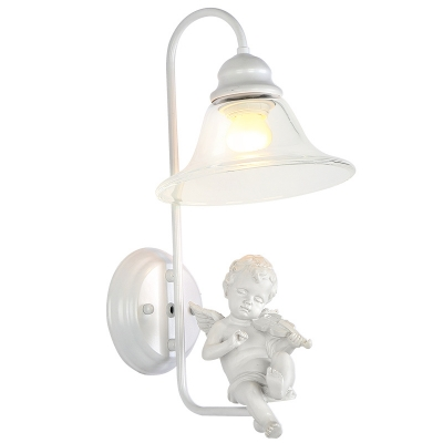 Pure angel pairs with all white add charm to magnificent single pure angel pairs with all white add charm to magnificent single light wall sconce adorned with mozeypictures Images