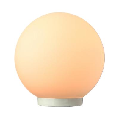 ... Modern White Glass Ball Table Lamp