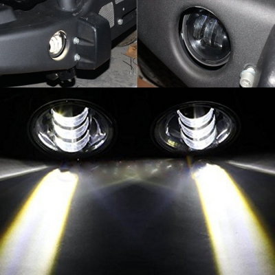 4 Inch 30W LED Bumper Fog Light for Jeep Wrangler Cree LED 6500K Pack of 2
