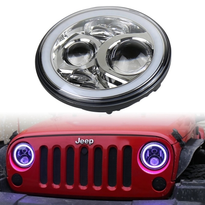 7 Inch 60w Chrome Led Headlight For Jeep Wrangler Hi Lo