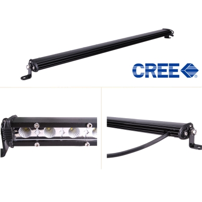 20 Inch Slim LED Work Light Bar 54W 6000K Cree Flood Beam For Off Road Truck ATV SUV 4WD Car