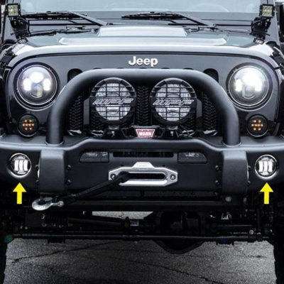 Jeep Wrangler Fog Lights >> 4 Inch 30w Led Bumper Fog Light For Jeep Wrangler Cree Led 6500k Pack