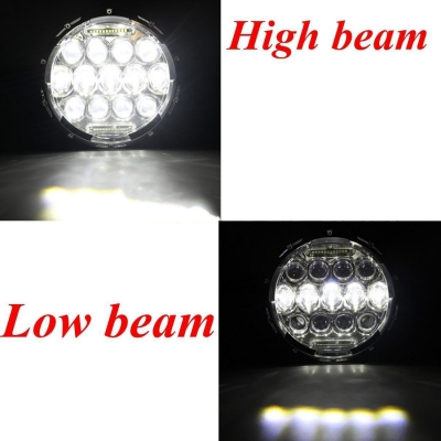 7 Inch 75W LED Headlight for Jeep Wrangler Hi/Lo Beam with DRL Projection Headlights Cree LED Pack of 2