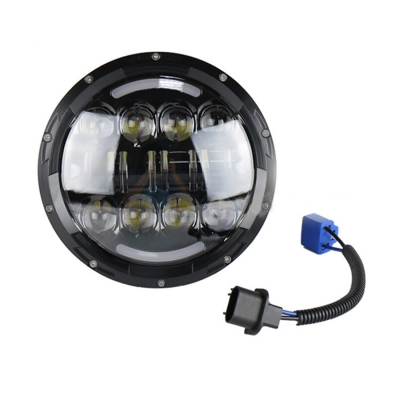 7 Inch 80W LED Projector Headlight for Jeep Wrangler with H4 DRL OSRAM LED 6500K Pack of 2