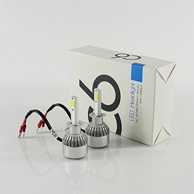 Car LED Headlight Bulbs H1 72W 7600LM 6000K COB LED Pack of 2