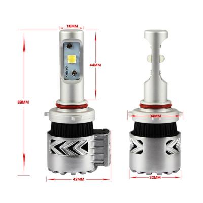 Car Dual Beam LED Headlight Bulbs 9005/HB3 72W 12000LM 6500K XHP50 CREE LED Pack of 2