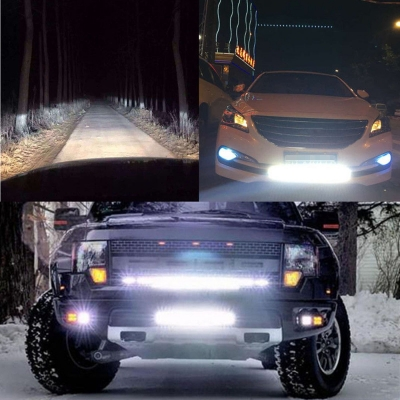 7 Inch Slim LED Work Light Bar 18W 6000K Cree Flood Beam For Off Road Truck ATV SUV 4WD Car