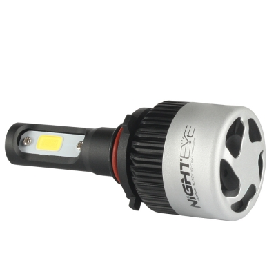 NIGHTEYE S2 Car LED Headlight Bulbs 9005/HB3 72W 9000LM 6500K Bridgelux COB LED Pack of 2