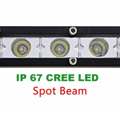 20 Inch Slim LED Work Light Bar 54W 6000K Cree Spot Beam For Off Road Truck ATV SUV 4WD Car