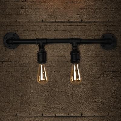 2-light LOFT Industrial Downward Lighted LED Wall Sconce