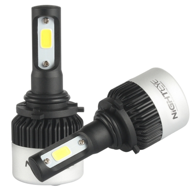 NIGHTEYE S2 Car LED Headlight Bulbs 9006/HB4 72W 9000LM 6500K Bridgelux COB LED Pack of 2