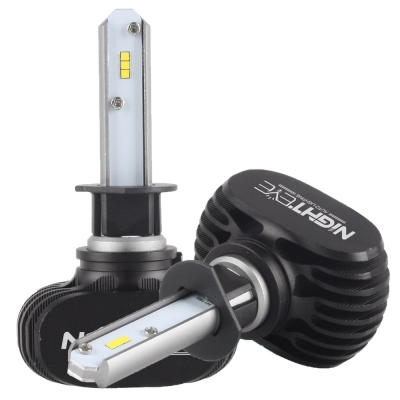 NIGHTEYE S1 Car LED Headlight Bulbs H1 50W 8000LM 6500K SEOUL CSP LED Pack of 2