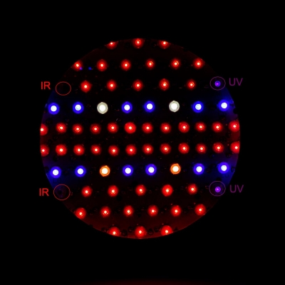 UFO 216W Full Spectrum LED Grow Light 72 LEDs 5000LM - Black