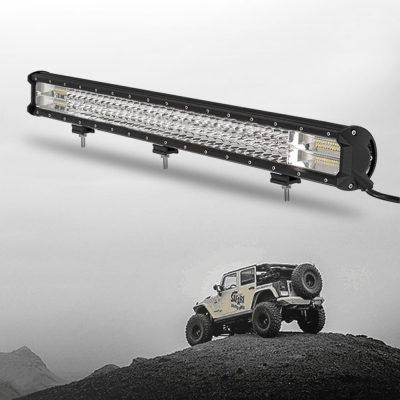 7D+ 31 Inch Combo Beam LED Work Light Bar 432W 43200LM Flood and Spot Tri-Rows OSRAM LED Car Light for Off Road Truck ATV SUV 4WD Car - NEW ARRIVAL
