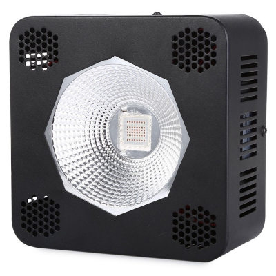 192W COB LED Grow Light for Full Spectrum 64 LEDs (Black)