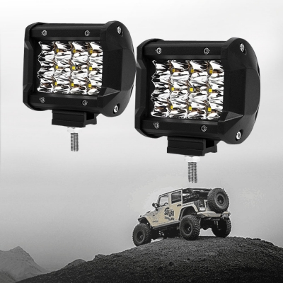 4 Inch LED Car Light Bar Spot Beam Cube Work Light Daytime Running Lamp for SUV Boat 4x4 Jeep 4WD ATV, Pack of 2