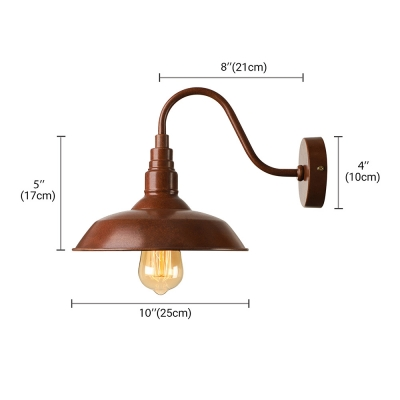 10\'\' Wide Single Light LED Wall Light for Barn in Old Rust Finish ...