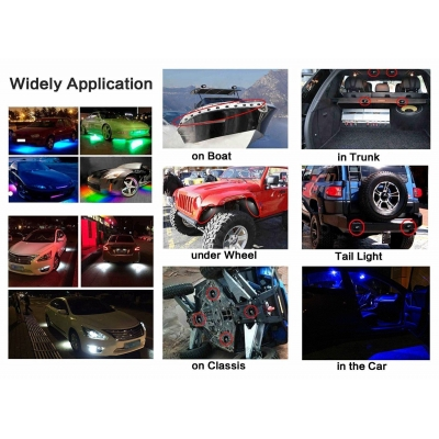 LED Rock Light for JEEP ATV SUV Off Road Trucks Boat Waterproof Rock Proof, White Light (Pack of 2)