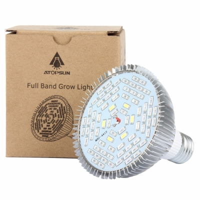 Image of E27 50W LED Grow Light Bulb 78 LEDs Greenhouse Supplemental Lighting