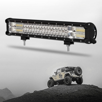 7D+ 20 Inch Combo Beam LED Work Light Bar 288W 28800LM Flood and Spot Tri-Rows OSRAM LED Car Light for Off Road Truck ATV SUV 4WD Car - 2017 NEW ARRIVAL