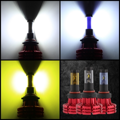 NIGHTEYE X1 Car LED Headlight Bulbs 9006/HB4 60w 10000LM 6500K LUXEON ZES LED Pack of 2