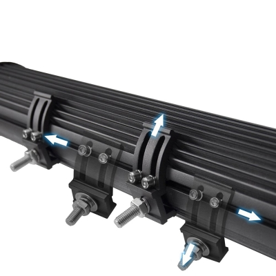 7D+ 31 Inch Combo Beam LED Work Light Bar 432W 43200LM Flood and Spot Tri-Rows OSRAM LED Car Light for Off Road Truck ATV SUV 4WD Car - 2017 NEW ARRIVAL