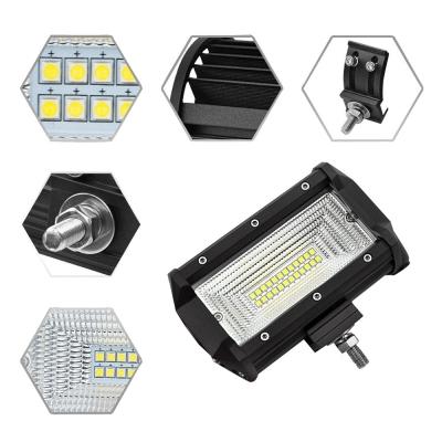 7D+ 5 Inch 150° Flood Beam CREE LED Car Light Work Light Bar for 4x4 Off Road SUV Trucks Pack of 2